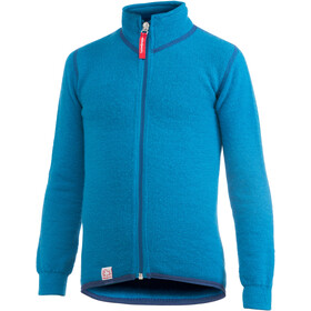 Woolpower 400 Full-Zip Jacket Kinder dolphin blue